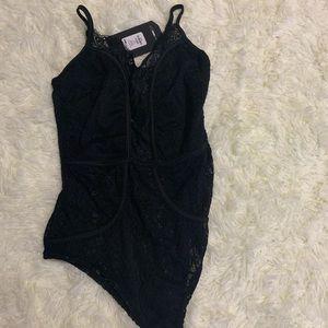 Black Lace Bodysuit   ON HOLD